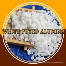 Feuerfeste hohe Reinheit 0-1mm weißer Korund-Bruch zum Verkauf