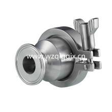 Válvula de retención de acero inoxidable Tri Clamped Hygienic
