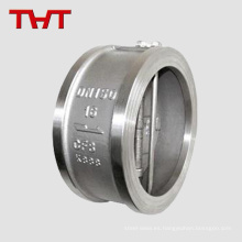 Válvula de retención dual-plate del doble del wafer del oscilación de la placa del acero inoxidable 316
