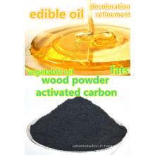 Sciure de charbon actif pour l'affinage de l'huile de cuisson comestible