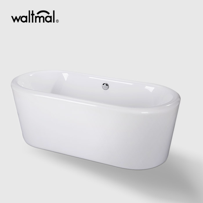 Dover Acrylic Soaking Freestanding Bathtub in Glossy White