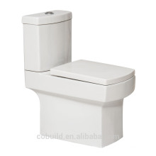 Квадратный белый цвет двух частей туалет Западная промывки керамический туалет