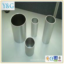 7010 7075 (C77S) 7020 (A-Z5G) 7075 (A-Z5GU) 7049A (A-Z8GU) en alliage d'aluminium moulin anodisé fini sablé sablé tube / tuyau