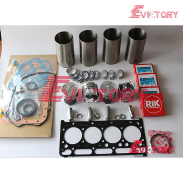 excavator V2203 engine gasket bearing piston ring liner