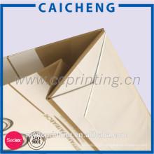 Bolsa de presente de papel para cartão personalizado para compras