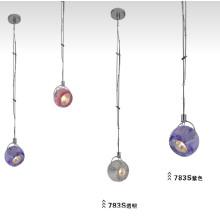 Cristal y lámpara colgante GU10 del acero de carbón (783S)