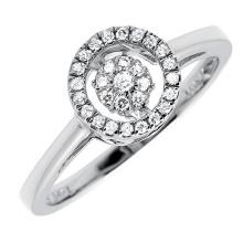 Anneau en argent sterling 925 avec ensemble de bijoux en diamant de danse