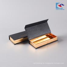 Caja de empaquetado del logotipo de la exhibición del libro magnético de la pestaña del ojo de visón de encargo