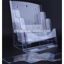 Plateau acrylique clair fichier fournitures de bureau