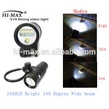 Photographie de lampe de poche de plongée Interrupteur magnétique étanche à l'eau IP68