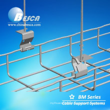 Electro Zinc Plated Mesh Type Cable Trays with hook (CE,UL,cUL,RoHS certified)