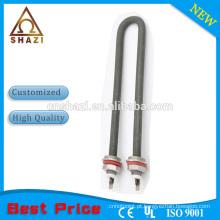 Elemento de aquecimento tubular elétrico em forma de U