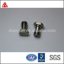 304 stainless steel hex bolt with 2 drilling holes used on car