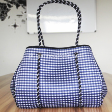 2018 Summer Beach bag com bolso interno com zíper