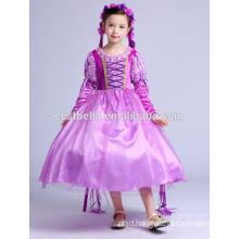 Children Frocks Designs Party Girls Birthday Dresses Purple Christmas Party Little Girl