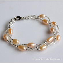Fashion Freshwater Pearl Bracelet Jewelry Wholesale (EB1534-2)