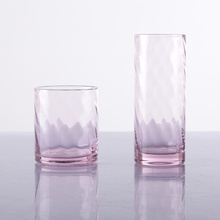 Hand Blown HB Pink Water Glass Pink Drinking Glasses