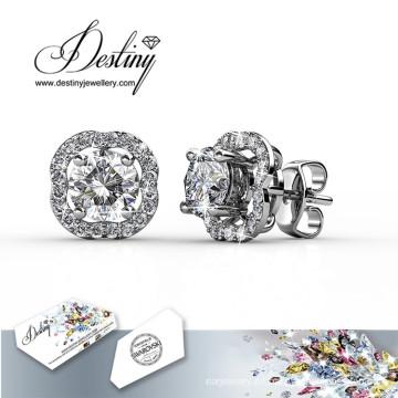 Florecen del destino joyas cristales de Swarovski pendientes