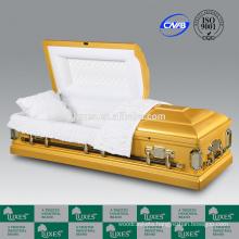 LUXES America Classical Funeral Cremation Caskets Golden Caskets