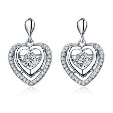 925 pendientes de plata joyería con diamante de baile CZ