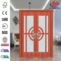 JHK-G33 PVC Veneer Sliding Glass Interior Barn Doors