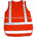 100%polyester High visibility warning reflective safety vest
