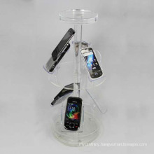 Round Floor Acrylic Mobile Phone Display Stands