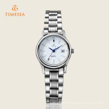 Relógio de marca de aço inoxidável de moda de quartzo para senhoras 71131