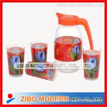 Jarra de vidrio para agua o jugo