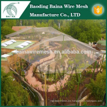 Metal zoo aviary mesh malla de alambre de acero inoxidable