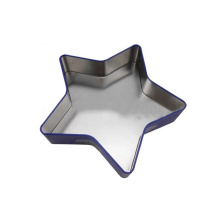 Custom shape custom LOGO printing pattern tin box with sticker newest tin box