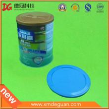 Tamaño fijo habitual en el uso de latas de polvo de leche Tapa de plástico