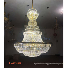 Modern murano glass led crystal chandelier for centerpieces