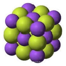 reação à água com flúor de sódio