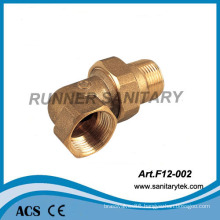 Female/Male Brass Elbow Three Piece (F12-002)