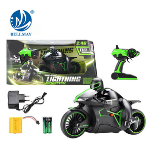 2.4GHz High Speed Peligrosidad Racing RC Motorcycle with 20km Speed Per Hour