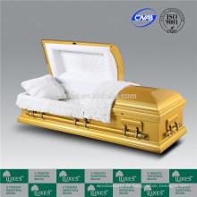 Caixão de cor dourada fabuloso caixão de madeira americana