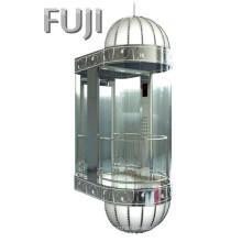 All Transparent Glass Observation Elevator / Lift