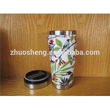 venta por mayor creativo hecho en acero de calidad superior china cerámica de viaje taza de esmalte