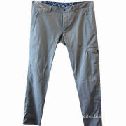 Men's Suit Pants (Trousers) with 15 to 20cm Zipper on Both Side, Made of 97% Cotton and 3% Spandex