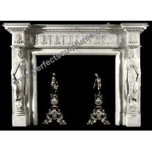 Manteau de cheminée en marbre pour décoration intérieure (QY-LS378)