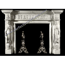 Мраморная каминная доска для домашнего украшения (QY-LS378)