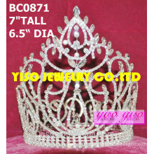 clear rhinestone full crowns and tiaras