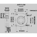 50 * 50 * 15 mm ventilador del soplador de la C.C. sin cepillo dB5015