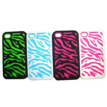 Silicone rubber 6 stytles apple iphone 4 protective case co