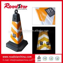 manga de cone de tráfego reflexivo