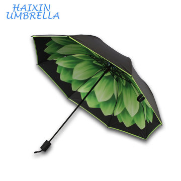 Green Daisy Top Selling 2017 Customize Sun Europe and the United States Inverted Umbrella and Reverse Upside Down Umbrella