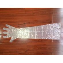 Ветеринарные одноразовые пластиковые полиэтиленовые перчатки с длинным рукавом