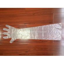 Einweg-Tierhandschuhe aus PE mit langen Ärmeln