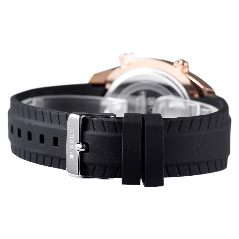 Fashion Sport Silicon Band Montre Homme CURREN